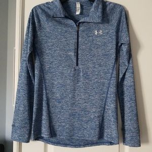 New! Under Armour blue 1/4 zip size Small